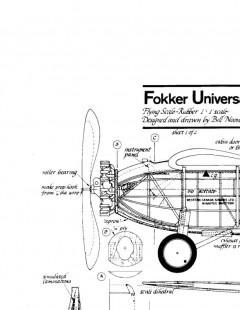 fokkeruniversal model airplane plan