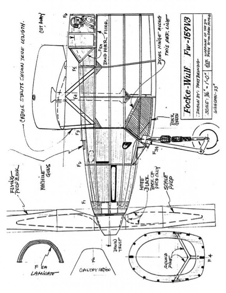 fw159v3 model airplane plan