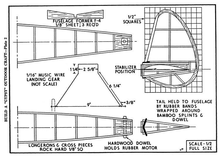gypsy p2 model airplane plan