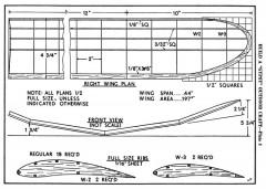 gypsy p3 model airplane plan