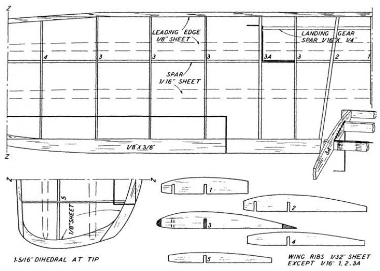 lusc10p3 model airplane plan