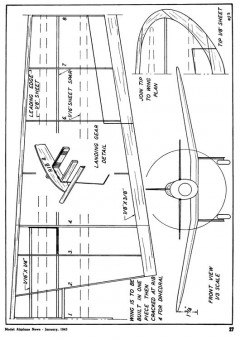 mig3 model airplane plan