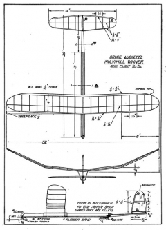 mulvihill p8 model airplane plan