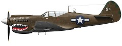 Curtiss P40 N model airplane plan
