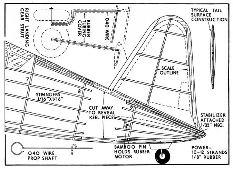vultee 2 model airplane plan