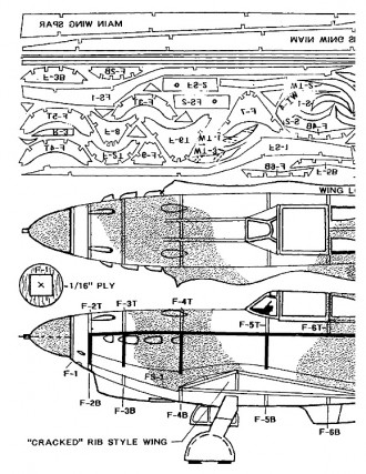 yak1-dn model airplane plan