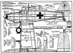 Messerschmitt me-109 p1 model airplane plan