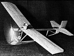 1920s Powered Glider model airplane plan