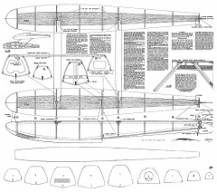 33in Floats model airplane plan