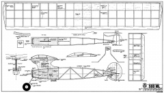 500 ML RCM-658 model airplane plan