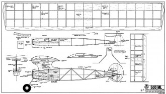 500 ML model airplane plan