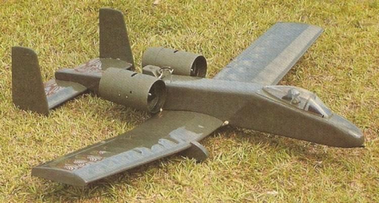 A-10 model airplane plan