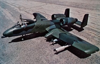 A-10 Warthog model airplane plan