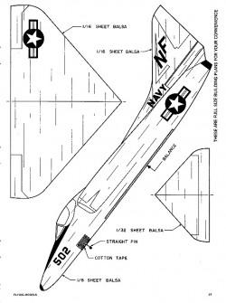 A-4 Skyhawk-FM-12-72 model airplane plan