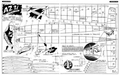 A.Z 31 model airplane plan