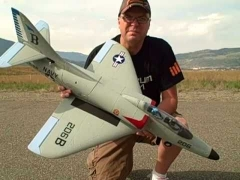 A4 Skyhawk model airplane plan