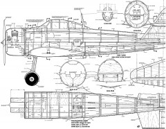 A6M2 Zero 61in model airplane plan