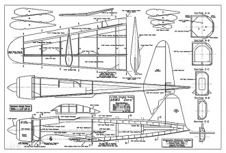 A6M2 Zero combat PMA model airplane plan