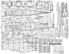 AD-2 Skyraider model airplane plan