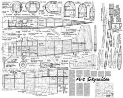 AD-2 Skyraider model airplane plan
