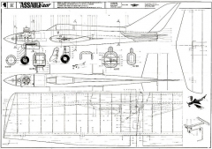 ASSAULT C207 model airplane plan