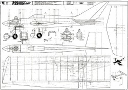 ASSAULT C207 model airplane plan
