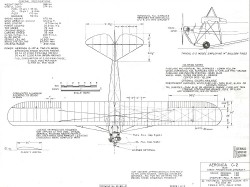 Aeronca C-2 model airplane plan