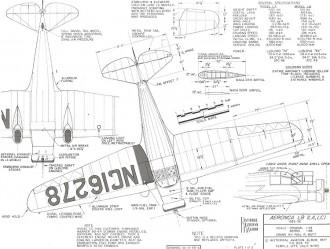 Aeronca LB (LA LC) model airplane plan