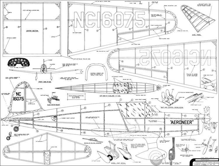 Aeroneer Comet model airplane plan