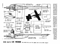 Air Trails October 1953 Lil Bob Day Bomb xxx model airplane plan