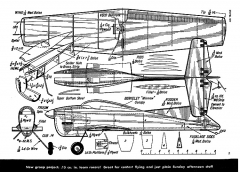 Air Trails February 1954 Frank Ehling - Honeybug model airplane plan