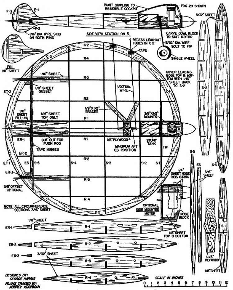 Sassy Saucer. model airplane plan