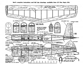 The Bartlett Bullet model airplane plan