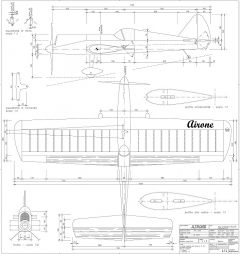 Airone (Heron) CL model airplane plan