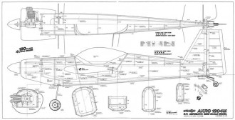 Akro 1204m model airplane plan