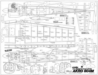 Akro 804m model airplane plan