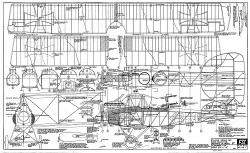 Albatros C.VII model airplane plan
