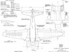 Alcor C61 model airplane plan