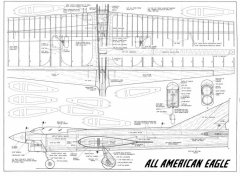 All-American Eagle model airplane plan