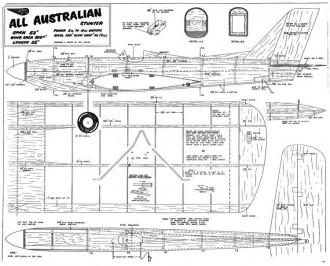 All Australian Mk2 model airplane plan