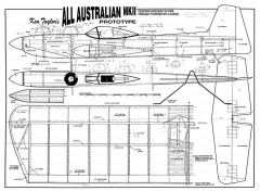 All Australian Mk II model airplane plan