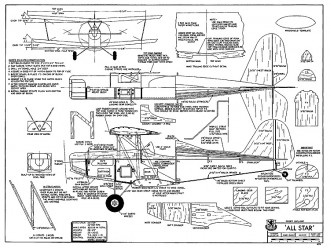 All Star model airplane plan