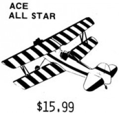All Star Biplane model airplane plan