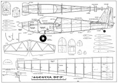 Alpavia RF-3-FM 09-66 model airplane plan