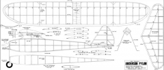Anderson Pylon Texaco model airplane plan
