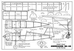 Andreason-BA-4B-1 model airplane plan