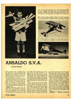 Ansaldo SVA model airplane plan