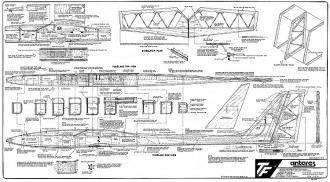 Antares 100in model airplane plan