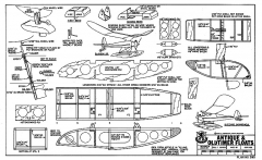 Antique Old-Timer Floats model airplane plan