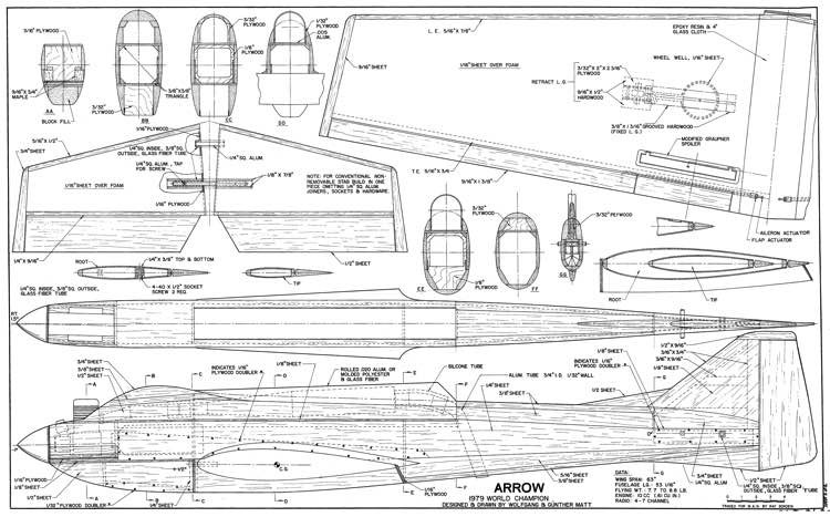 Arrow 60 model airplane plan